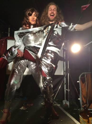 Sarah Gavin and Tom Jackson as Madge and Rodge, Klub Singers' Klassik Karaoke Klub, Beacons Festival (2014). Photo courtesy of the artists