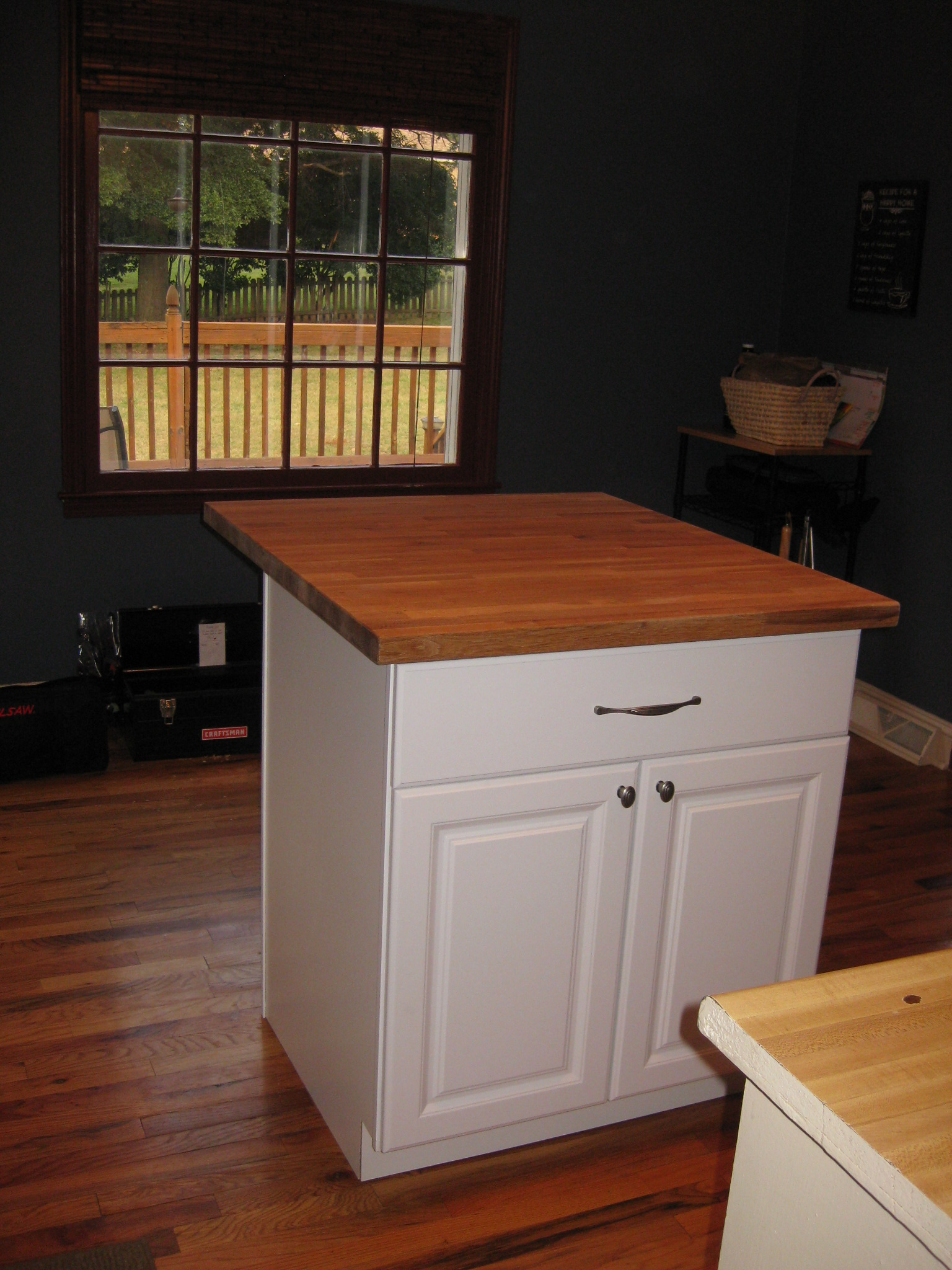 DIY Kitchen Island Tutorial from premade cabinets