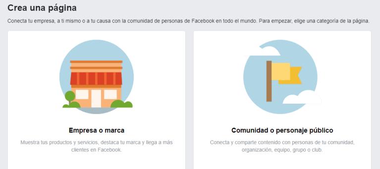 crear una pagina de empresa de facebook