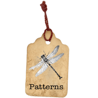 Laura Denison Designs pattern-tag-button