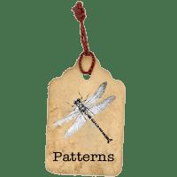 Laura Denison Designs pattern-tag-button