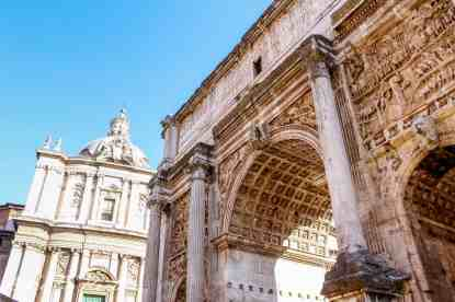 The Arch of Septimius Severus,