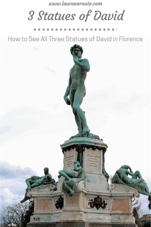 See All 3 Statues of David in Florence