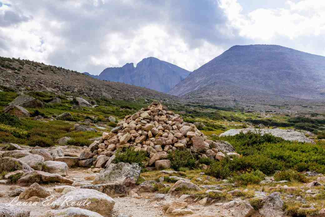 Cairns on Longs Peak Trail, Colorado - www.lauraenroute.com