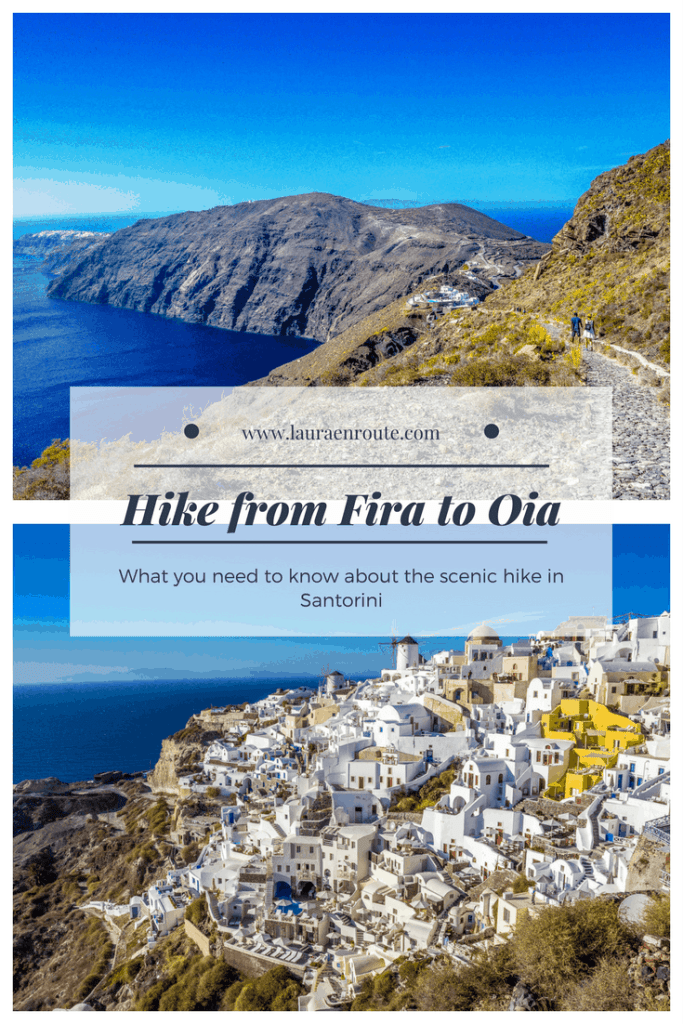 What to know when planning to hike from Fira to Oia, Santorini - www.lauraenroute.com
