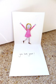 Inside losing weight card - pop up