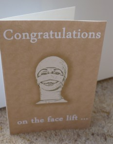 Face lift card