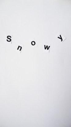 like falling snow