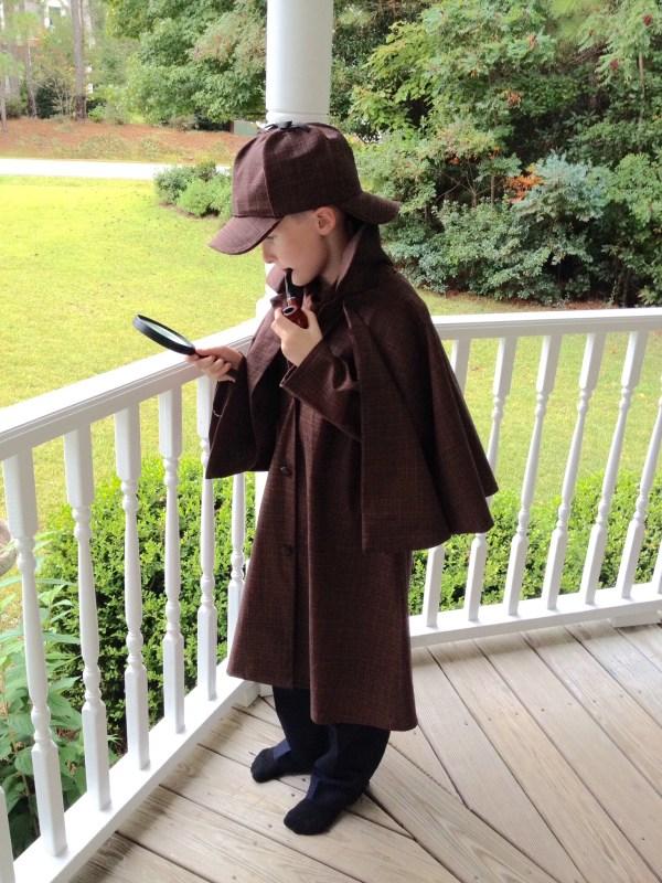 Diy Sherlock Holmes Costume Playing With Scissors