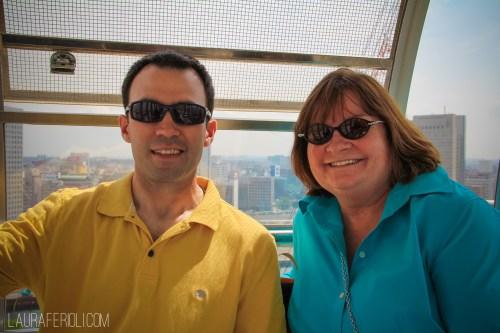 Mike and Janice on the Ferris wheel in Yokohama