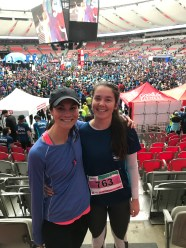 Sasja and I after the 10km Vancouver Sun Run