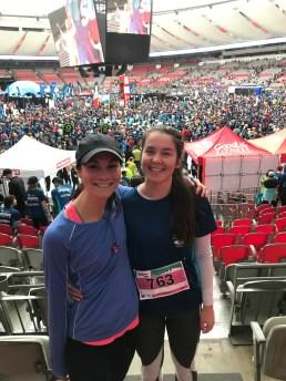 Sasja and I after the 10km Vancouver Sun Run