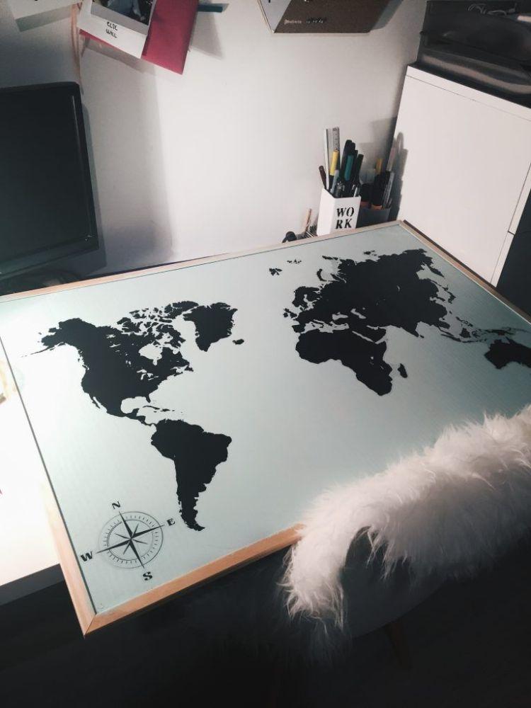 DIY mapamundi corcho