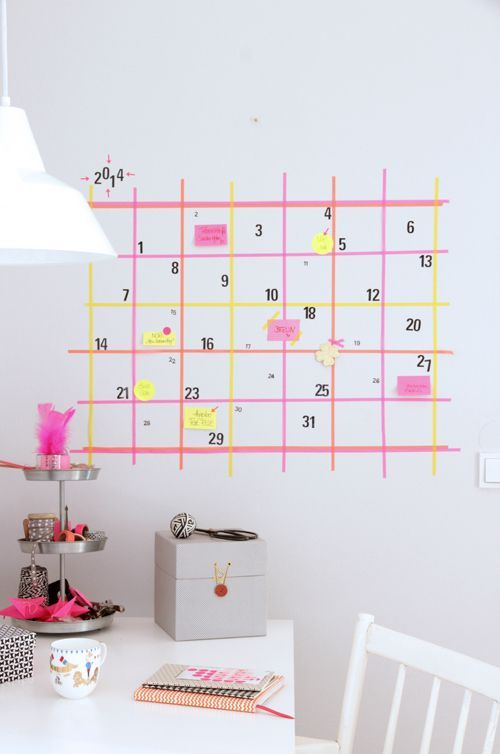 Calendario diy Washi Tape