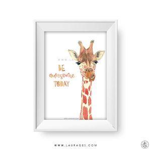 lamina infantil jirafa