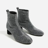 Zara Shiny Sock Ankle Boots