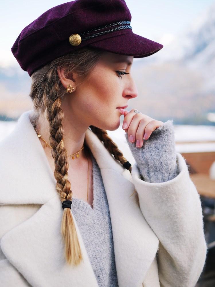 Schiffermütze Baker Boy Hat Weinrot H&M