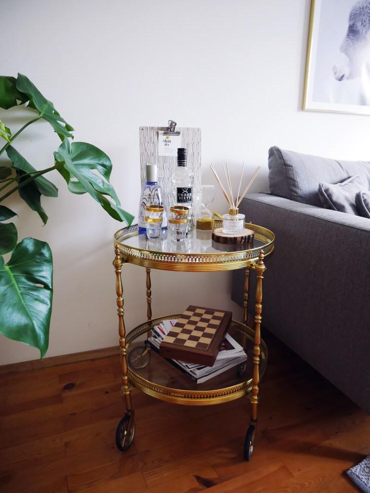Wohnzimmer Vintage Beistelltisch rund