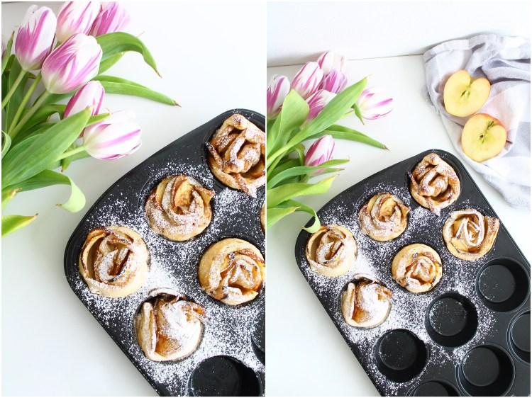 Cinnamon Apple Rose Muffins