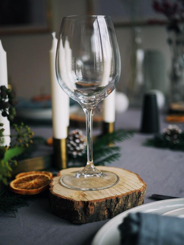 Christmas Table Decoration Tree Slice