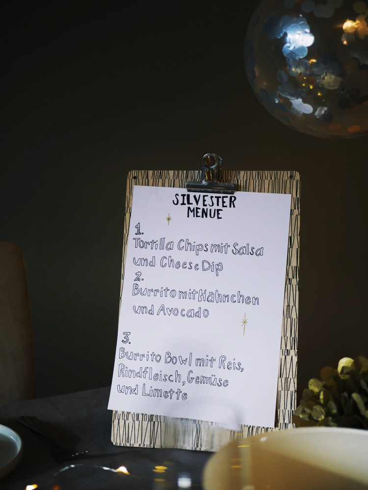 New Years Eve Dinner with Santa Maria Menu Card
