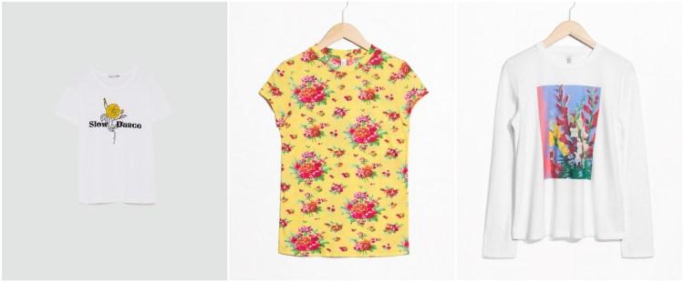 T-Shirts mit Blumenprint