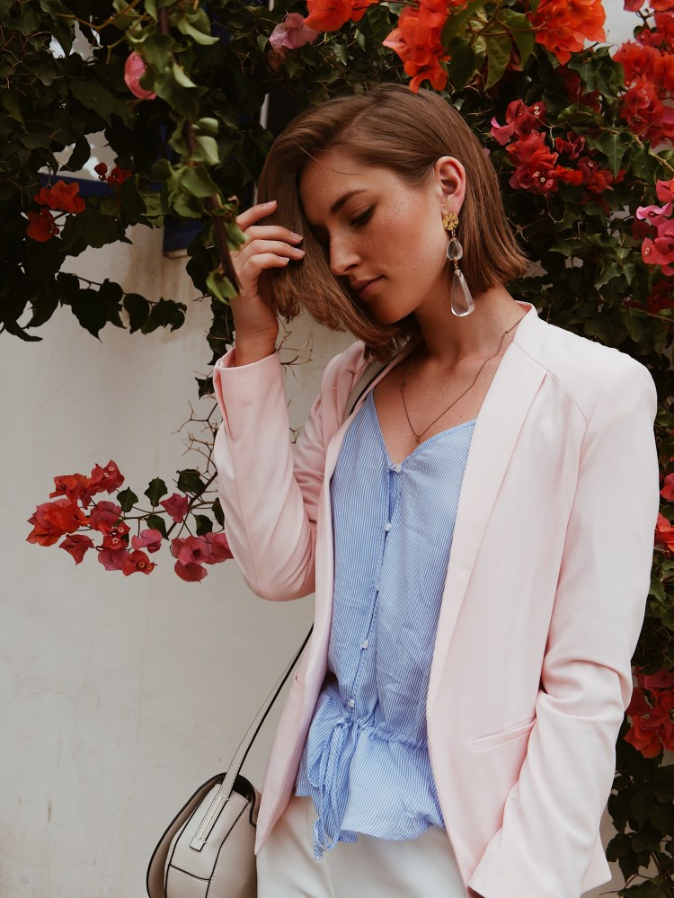 Fashion Look mit Pastell-Blazer