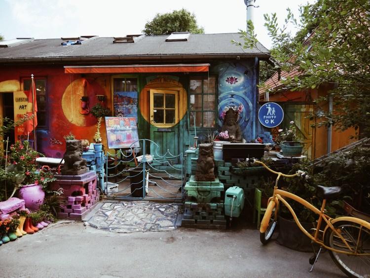 Stadtteil Christiania Copenhagen