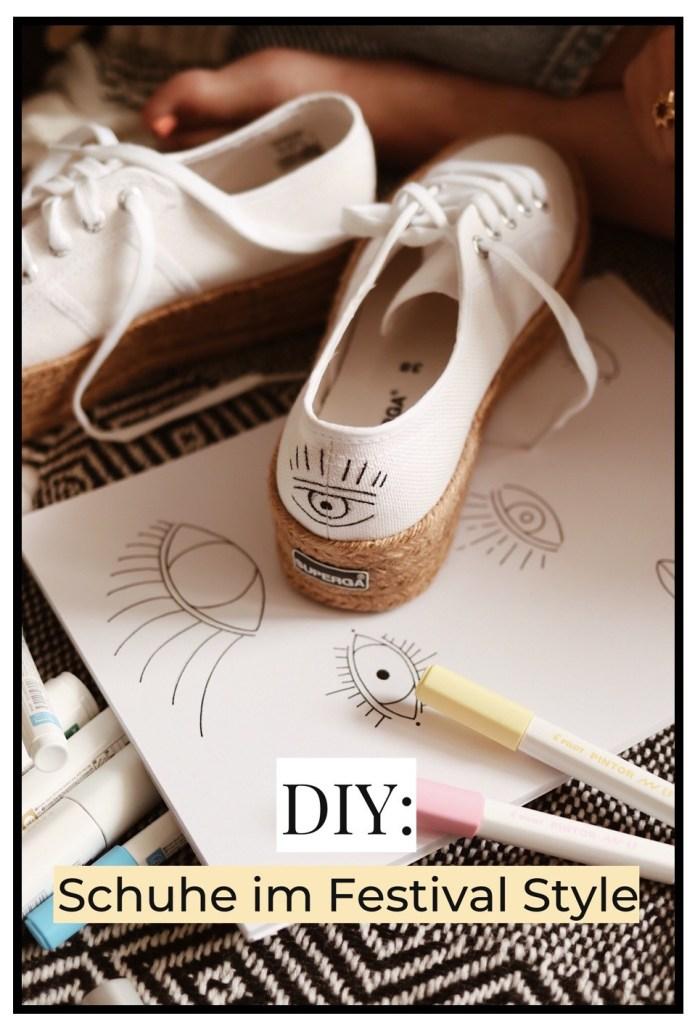 DIY Schuhe im Festival Style