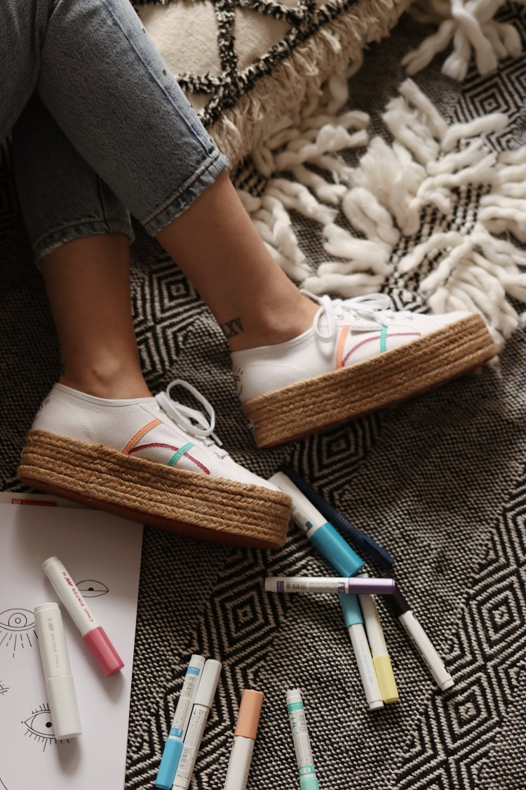 DIY Festival Shoes with Pintor Pilot Marker