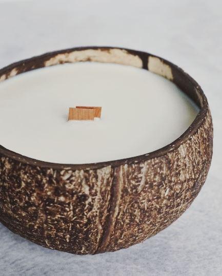 Kokosnuss Kerze Sojawachs