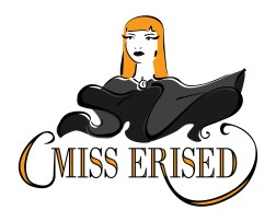 Logo for burlesque performer Miss Erised by Laura Elliott at Drawesome Illustration, Bristol. Illustration, Design, Whimsy