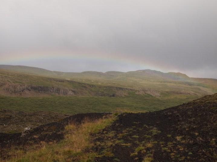 Ein Regenbogen gleich zu Beginn :)