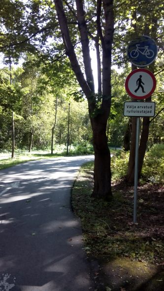 Fahrradweg ohne Fußgänger!