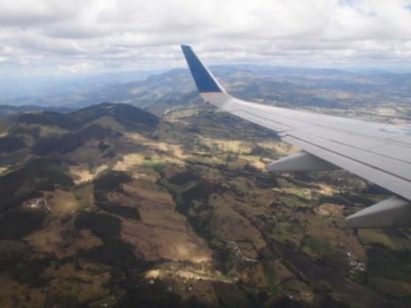 Anflug auf Kolumbien