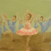 9 Ladies Dancing by Laura Jaen Smith. Acrylic painting from 12 Days of Christmas series.