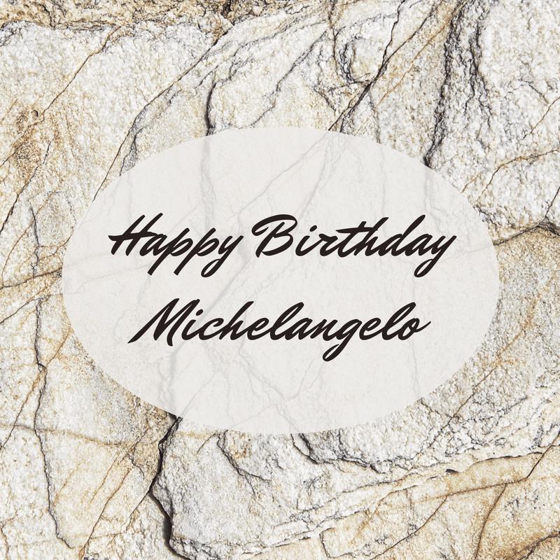 Happy Birthday Michelangelo graphic