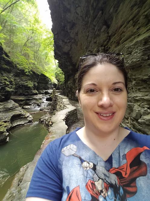 Photo of Laura Jaen Smith in Watkins Glen State Park Gorge Trail NY by Laura Jaen Smith