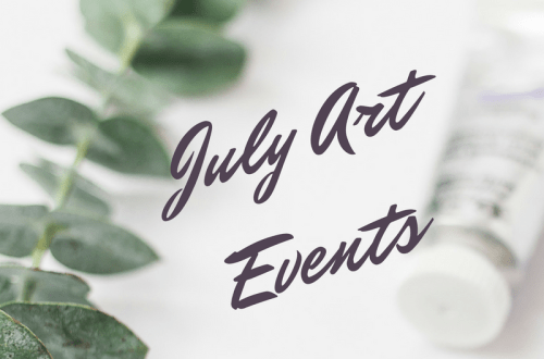 July art events graphic