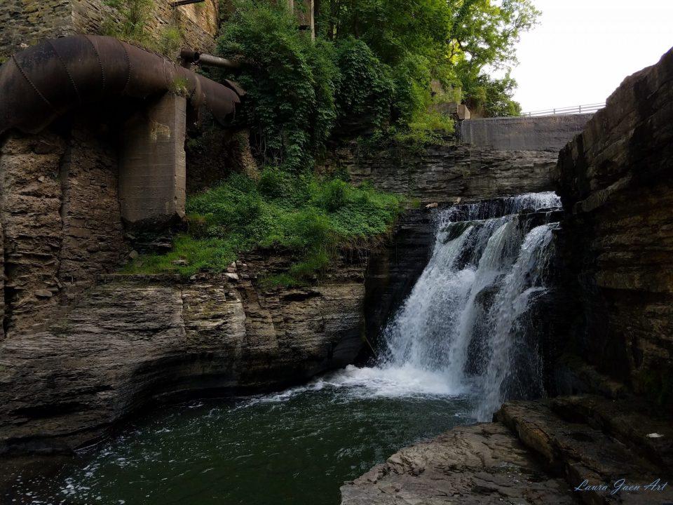 Photo of Van Natta Falls Wells Falls Businessman's Lunch Falls by Laura Jaen Smith