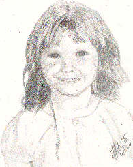Jess by Laura Jaen Smith. Pencil portrait of girl.