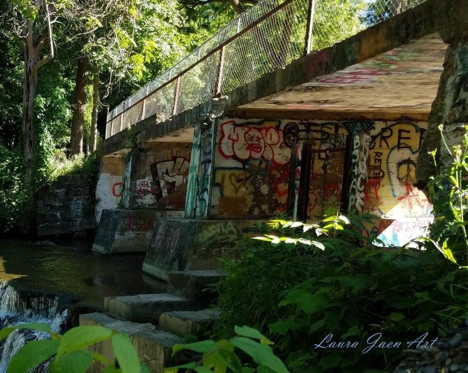 Photo of Papermill Falls Avon NY by Laura Jaen Smith