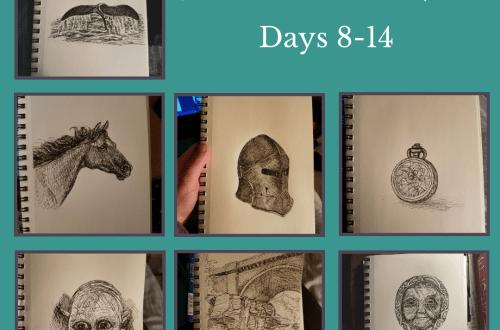 inktober 2018 Days 8-14 blog cover