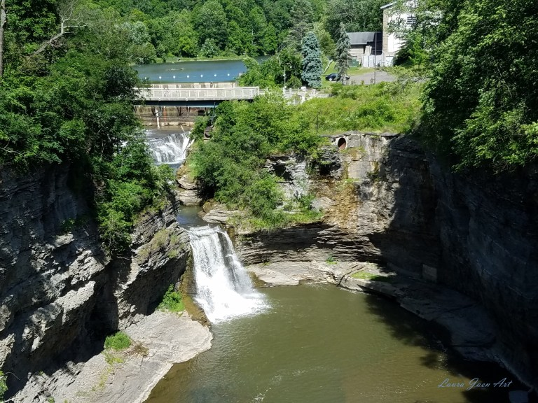 Photo of Triphammer Falls Lower Fall Creek Gorge by Laura Jaen Smith