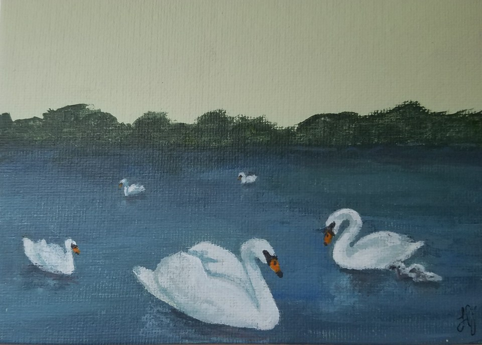 Seven Swans A Swimming by Laura Jaen Smith