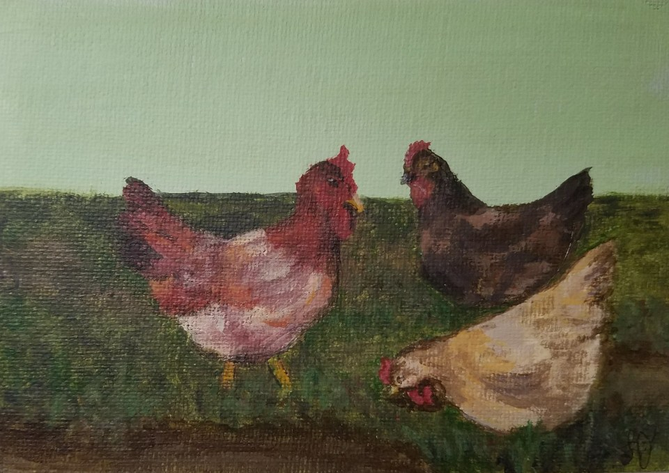 Three French Hens by Laura Jaen Smith