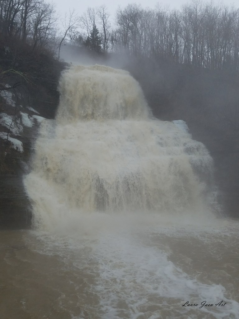 Photo of Shequaga Falls downtown Montour Falls NY by Laura Jaen Smith.