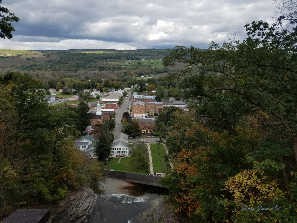 Photo of overlooking Shequaga Falls downtown Montour Falls NY by Laura Jaen Smith.