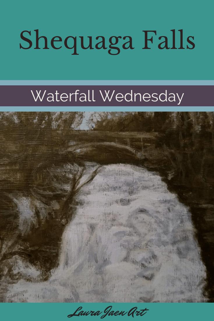 Shequaga Falls Waterfall Wednesday blog cover