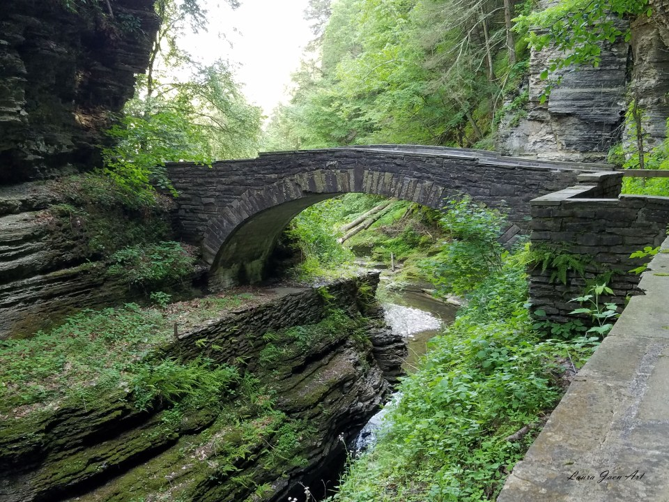 Photo of Robert H. Treman State Park in Ithaca NY by Laura Jaen Smith.